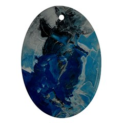 Blue Abstract Ornament (oval)  by timelessartoncanvas