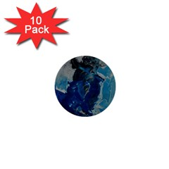 Blue Abstract 1  Mini Buttons (10 Pack)  by timelessartoncanvas