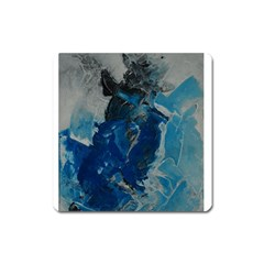 Blue Abstract Square Magnet by timelessartoncanvas