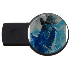 Blue Abstract USB Flash Drive Round (1 GB)  by timelessartoncanvas
