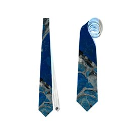 Blue Abstract Neckties (two Side)  by timelessartoncanvas