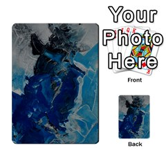 Blue Abstract Multi Purpose Cards (rectangle)