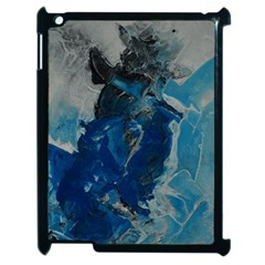 Blue Abstract Apple Ipad 2 Case (black) by timelessartoncanvas