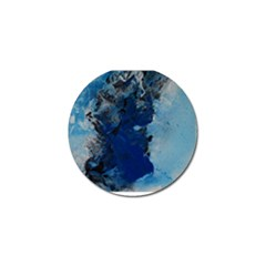 Blue Abstract No 2 Golf Ball Marker by timelessartoncanvas