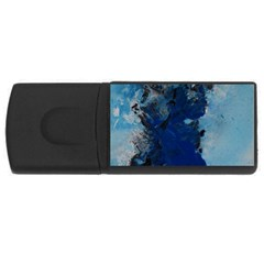 Blue Abstract No.2 USB Flash Drive Rectangular (2 GB)  by timelessartoncanvas