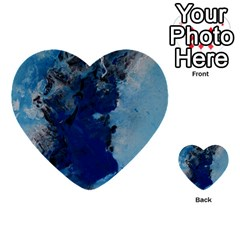 Blue Abstract No 2 Multi Purpose Cards (heart)  by timelessartoncanvas