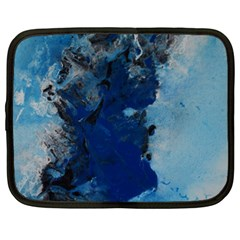 Blue Abstract No 2 Netbook Case (large)	 by timelessartoncanvas