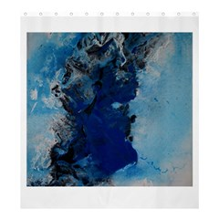 Blue Abstract No 2 Shower Curtain 66  X 72  (large)