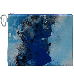 Blue Abstract No 2 Canvas Cosmetic Bag (xxxl)  by timelessartoncanvas