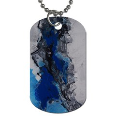 Blue Abstract No 3 Dog Tag (two Sides) by timelessartoncanvas