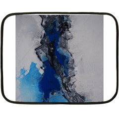Blue Abstract No 3 Fleece Blanket (mini) by timelessartoncanvas