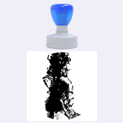 Blue Abstract No 3 Rubber Round Stamps (large) by timelessartoncanvas