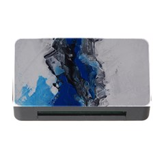 Blue Abstract No 3 Memory Card Reader With Cf