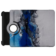 Blue Abstract No 3 Kindle Fire Hd Flip 360 Case by timelessartoncanvas