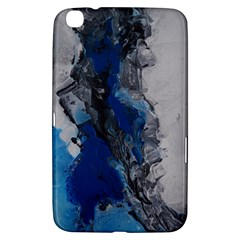 Blue Abstract No 3 Samsung Galaxy Tab 3 (8 ) T3100 Hardshell Case  by timelessartoncanvas