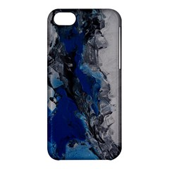 Blue Abstract No 3 Apple Iphone 5c Hardshell Case by timelessartoncanvas
