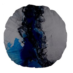 Blue Abstract No 3 Large 18  Premium Flano Round Cushions