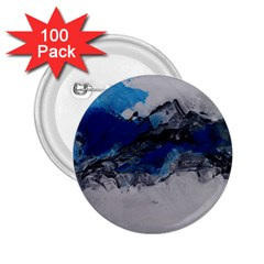 Blue Abstract No.4 2.25  Buttons (100 pack)  by timelessartoncanvas
