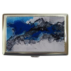 Blue Abstract No 4 Cigarette Money Cases by timelessartoncanvas