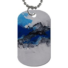 Blue Abstract No 4 Dog Tag (two Sides) by timelessartoncanvas
