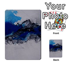Blue Abstract No 4 Multi Purpose Cards (rectangle)