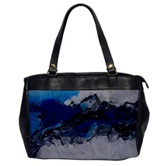 Blue Abstract No.4 Office Handbags by timelessartoncanvas