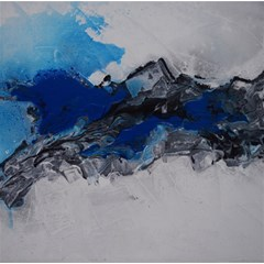 Blue Abstract No 4 Magic Photo Cubes by timelessartoncanvas