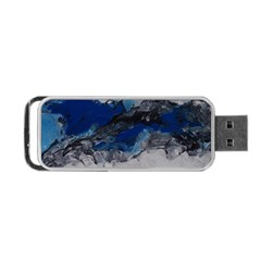Blue Abstract No 4 Portable Usb Flash (two Sides) by timelessartoncanvas