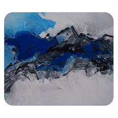 Blue Abstract No 4 Double Sided Flano Blanket (small)  by timelessartoncanvas