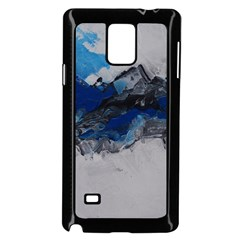 Blue Abstract No.4 Samsung Galaxy Note 4 Case (Black) by timelessartoncanvas