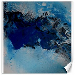 Blue Abstract No 5 Canvas 16  X 16   by timelessartoncanvas