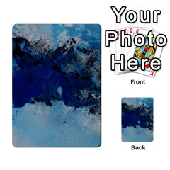 Blue Abstract No 5 Multi Purpose Cards (rectangle)