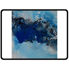 Blue Abstract No 5 Fleece Blanket (large)  by timelessartoncanvas