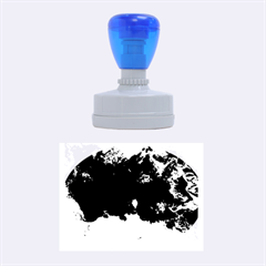 Blue Abstract No 5 Rubber Oval Stamps