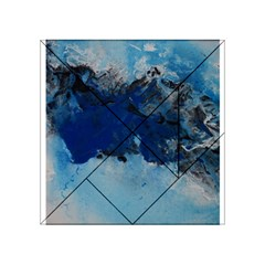 Blue Abstract No 5 Acrylic Tangram Puzzle (4  X 4 ) by timelessartoncanvas