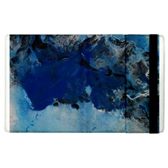 Blue Abstract No 5 Apple Ipad 2 Flip Case by timelessartoncanvas