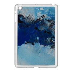 Blue Abstract No 5 Apple Ipad Mini Case (white) by timelessartoncanvas