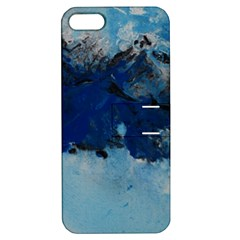 Blue Abstract No 5 Apple Iphone 5 Hardshell Case With Stand by timelessartoncanvas
