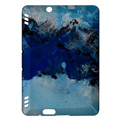 Blue Abstract No 5 Kindle Fire Hdx Hardshell Case by timelessartoncanvas
