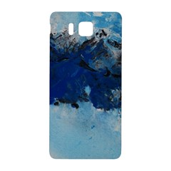 Blue Abstract No 5 Samsung Galaxy Alpha Hardshell Back Case by timelessartoncanvas