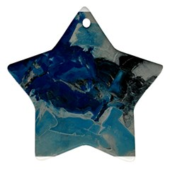 Blue Abstract No. 6 Ornament (Star)  by timelessartoncanvas
