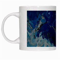 Blue Abstract No  6 White Mugs by timelessartoncanvas
