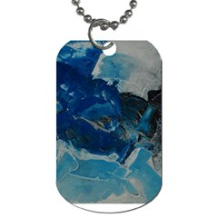 Blue Abstract No  6 Dog Tag (two Sides) by timelessartoncanvas