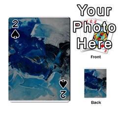 Blue Abstract No  6 Playing Cards 54 Designs