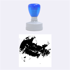 Blue Abstract No  6 Rubber Round Stamps (medium)