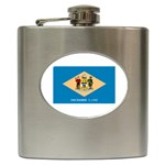 Delaware State Flag - Hip Flask (6 oz)