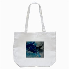 Blue Abstract No  6 Tote Bag (white)  by timelessartoncanvas