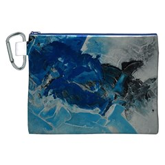 Blue Abstract No. 6 Canvas Cosmetic Bag (XXL)  by timelessartoncanvas