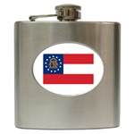 Georgia State Flag - Hip Flask (6 oz)