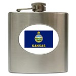 Kansas State Flag - Hip Flask (6 oz)